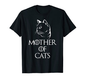 Mother Of Cats T-Shirt Funny Cat Lover Mothers Day Gift Tee