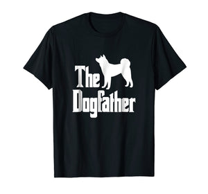 The Dogfather t-shirt, Akita silhouette, funny dog
