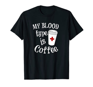 Coffee Lovers Phlebotomy Tshirt for Women Phlebotomists