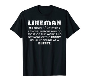 Lineman Definition Funny Awesome Gift Tshirt