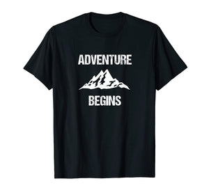 Adventure Begins - Hiking Camping Mountain Climber T-shirt