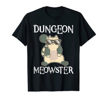 Load image into Gallery viewer, Dungeon Moewster Cats RPG DND T Shirt DM Funny Cat Gift