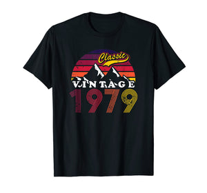 Retro Vintage 40th birthday 1979 Gifts T-Shirt