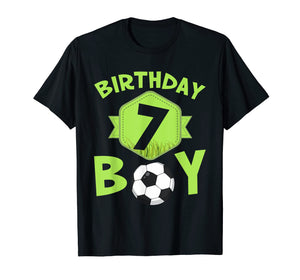 7th Birthday Soccer T-Shirt For Boys Kids