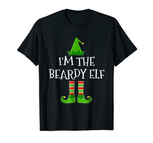 I'm The Beardy Elf Matching Family Group Christmas T Shirt
