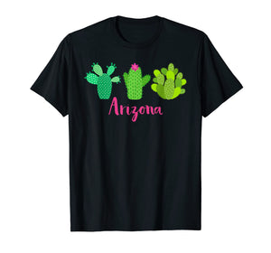 Arizona Cactus Plant with Flower T-Shirt for Women