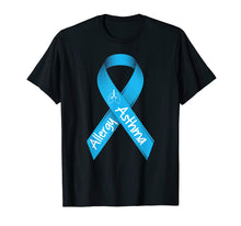 Load image into Gallery viewer, Asthma and Allergies Light Blue Awareness Ribbon T Shirt