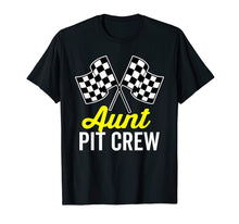 Load image into Gallery viewer, Aunt Pit Crew Shirt for Racing Party Costume (Dark)