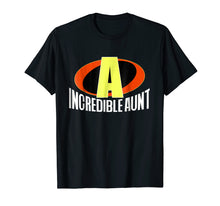 Load image into Gallery viewer, The Incredible Aunt Superhero T-Shirt for Women (Bold Text)