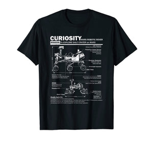 Mars Curiosity Rover NASA t shirt