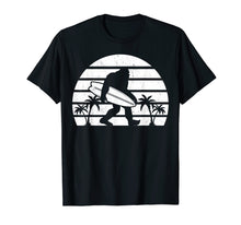 Load image into Gallery viewer, Bigfoot Surfing Shirt Sasquatch Tshirt Surf Board Gift Tee