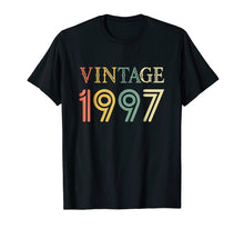 Load image into Gallery viewer, Retro Vintage 1997 T-Shirt 21 yrs old Bday 21st Birthday