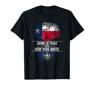 Texas Home New York Roots State Tree Flag Shirt Love Gift