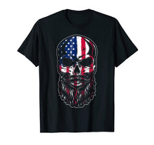 Load image into Gallery viewer, American Beard Skull Men's T-shirt Gift Funny Tee