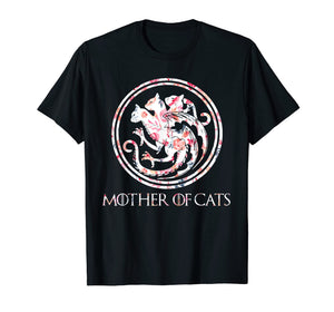 Cat Lovers Shirt - Mother of Cats Mix Flower T-Shirt