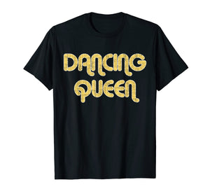 DANCING QUEEN Vintage Large Print 1970's T-Shirt