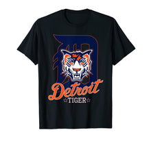 Load image into Gallery viewer, Tiger Face Wild Animal Detroit Michigan Baseball T-Shirt men