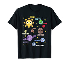 Load image into Gallery viewer, Cute Solar System Shirt Kids Toddlers Astronomy