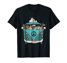 Load image into Gallery viewer, Dogs Peace Bus Hippie Funny T-Shirt