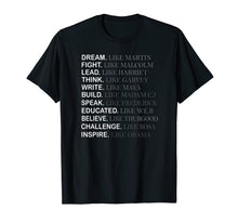 Load image into Gallery viewer, Black History Month T-shirt, Inspire like Obama Shirt