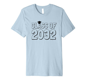 Class of 2032 Grow With Me Shirt -- Hand prints go on back!