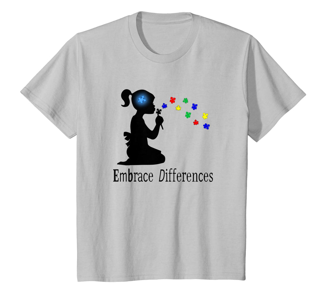 Embrace Differences Puzzle T-Shirt Autism Awareness Tee