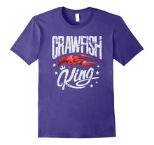 Load image into Gallery viewer, Crawfish King TShirt Cajun Boil Party Festival Gift Shirt