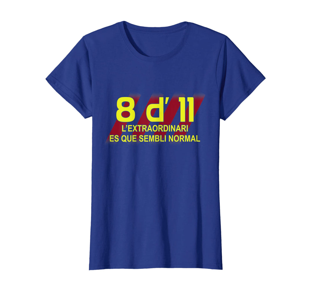 8 d' 11 Barcelona Champion T Shirt for Soccer Fans
