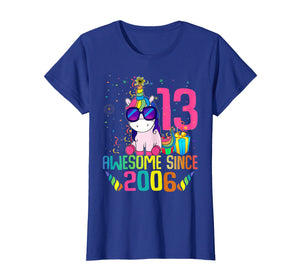 13 Years Old 13th Birthday Unicorn Shirt Girl Daughter Gift