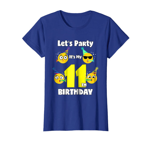 Emoji Birthday Shirt For 11 Year Old Girl Boy Toddler Fun