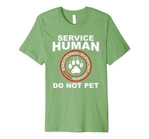 Service Human Tshirt Funny Dog Owner Emotional Support Human Premium T-Shirt