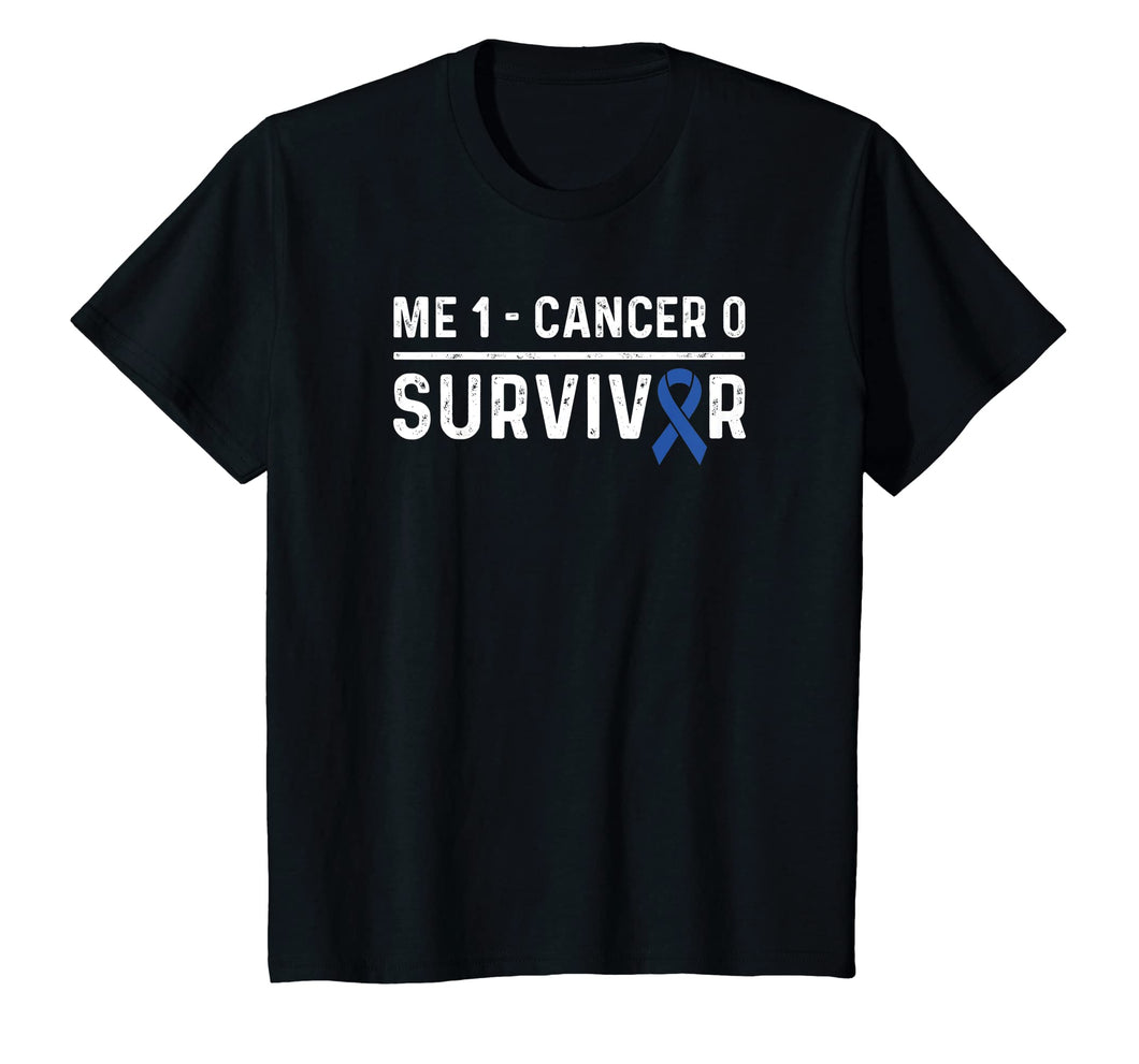 Colon Cancer Awareness Products Blue Ribbon Survivor T-Shirt