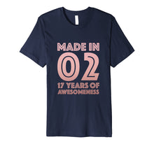 Load image into Gallery viewer, 17th Birthday Shirt Girl Age 17 Year Old Gift Teen Daughter