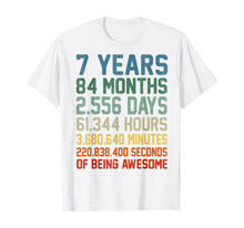 Load image into Gallery viewer, Vintage 7th Birthday 7 Years Old Wedding Anniversary Gift T-Shirt