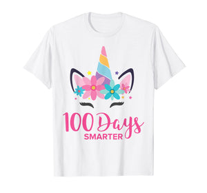 100 Days of School Shirt Unicorn Girls Costume Gift Tee