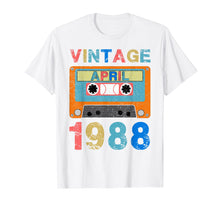 Load image into Gallery viewer, April 1988 Vintage 31st Birthday Gifts T-shirt Decoration