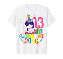 Load image into Gallery viewer, 13 Years Old 13th Birthday Unicorn Shirt Girl Daughter Gift