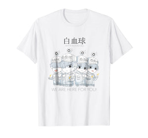 Cells at work anime white blood cell unisex t-shirt