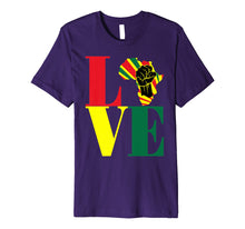 Load image into Gallery viewer, African Pride Black Power Fist Love Africa Map t-shirt