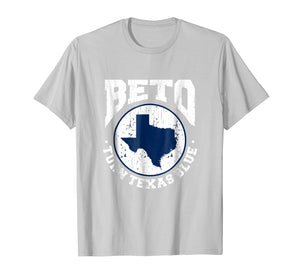 Beto Turn Texas Blue Distressed Graphic Vintage T-Shirt