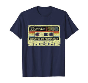 Vintage December 1988 31st birthday Gifts 70s Retro Cassette T-Shirt