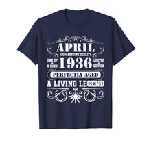 Load image into Gallery viewer, April 1936 Retro T-Shirt Vintage 83rd Birthday Decorations