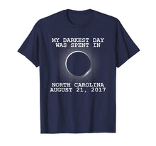 Load image into Gallery viewer, Total Solar Eclipse 2017 North Carolina Darkest Day T Shirt