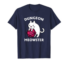 Load image into Gallery viewer, Dungeon Meowster Funny DnD Tabletop Gamer Cat D20 Tshirt