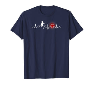 Cute Heartbeat Funny Tennis Player T Shirt Gift