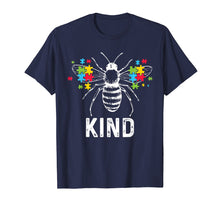 Load image into Gallery viewer, Autism Awareness Bee Kind Puzzle Pieces T Shirt Autist Tee
