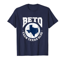 Load image into Gallery viewer, Beto Turn Texas Blue Distressed Graphic Vintage T-Shirt