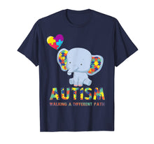 Load image into Gallery viewer, Autism Elephant Walking A Different Path T Shirt For Kids