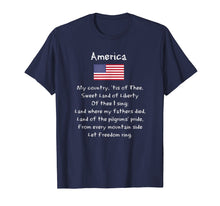 Load image into Gallery viewer, America My Country Song Patriotic USA 4th Of July T-Shirt