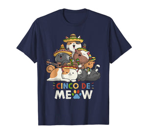 Cinco De Meow Mariachi Cat Lovers Cinco De Mayo T-Shirt